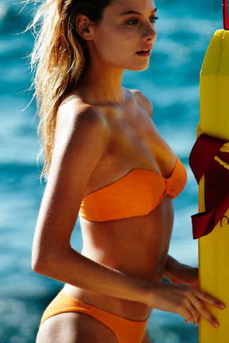 Bower Swimwear Jane Bikini Top in Orange