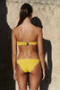 Bower Swimwear Jane Bikini Top in Yellow Back