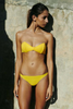 Bower Swimwear Jane Bikini Top Yellow Front Salamander Shop