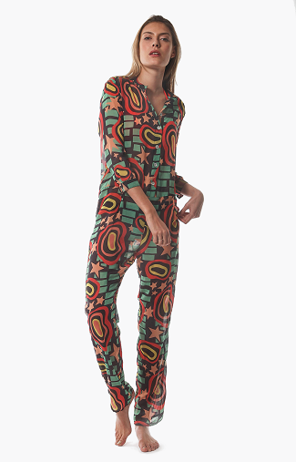 Bower Swimwear Redford Boiler Jumpsuit in ELOI Front