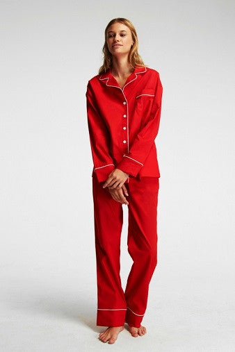 Sleeper Marx Red Pajama Set with Pants Full Salamander Shop