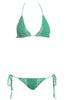 Beauty & the Beach Itsy Bitsy Bikini Mojito/Light Green Salamander Shop