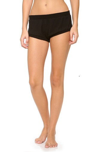 Eberjey Cozy Time Shorts Black Salamander Shop