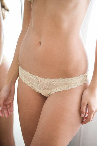 Eberjey Delirious Lace Low Rise Thong Bare | Salamander Shop