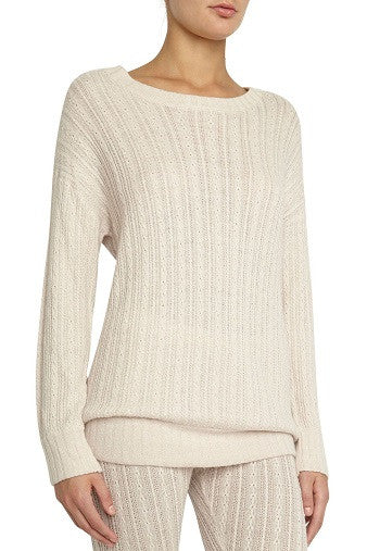 Eberjey Elsa Long Sleeve Top in Truffled Rose Front Salamander Shop