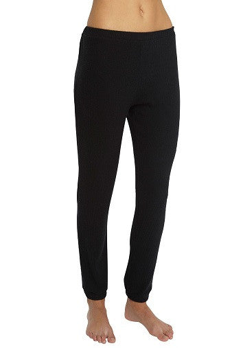 Eberjey Sweater Weather Legging in Black Front | Salamander Shop