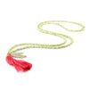 Ettika Beads Tassle Necklace in Olive Salamander