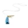 Ettika Beads Tassle Necklace in White Jade Salamander