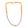 Ettika Urbane Princess Necklace Neon Orange Salamander Shop