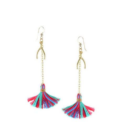 Ettika Heart Song with Wishbone Earring in Wild Berry
