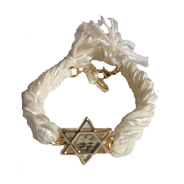 Ettika Gold Star of David Motif Vintage Ribbon Bracelet Salamander