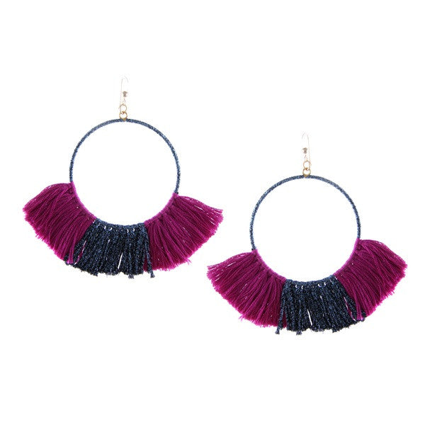 Ettika Wanderlust Warrior Earrings Magenta Salamander Bikini