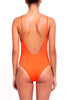 FELLA Danny Open Back One-piece in Aperol Orange Back Salamander Shop