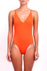 FELLA Danny Open Back One-piece in Aperol Orange Front Salamander Shop