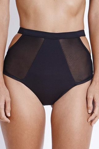 FELLA Finn High-Waisted Bikini Bottom in Black