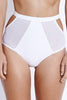 Fella Swim Finn High-Waisted Bikini Bottom White Front Salamander Shop