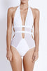 Fella Swim Finn One-piece in White Front Salamander Shop