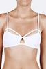 Fella Swim Iggy Bikini Top in White Front