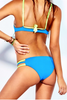 Lisa Lozano Neon Sporty Bralette Bikini Back Yellow | Salamander Shop