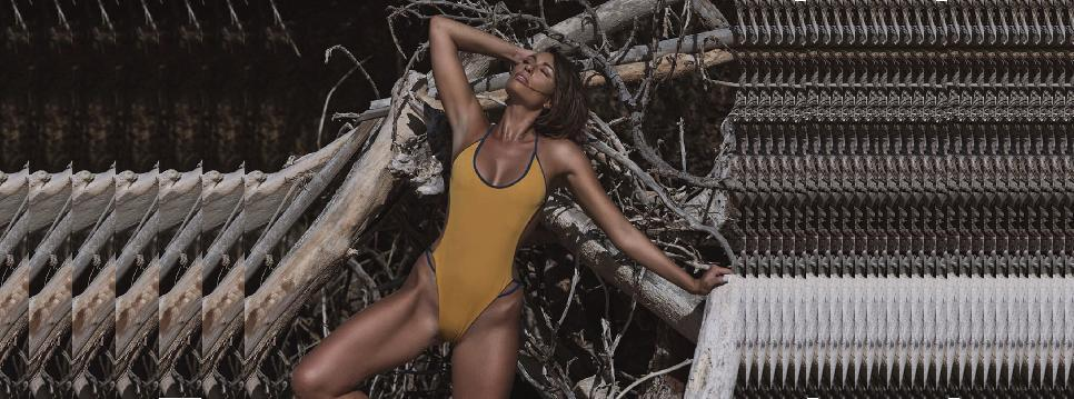 Shop Farron Sporty Minimalist Swimwear