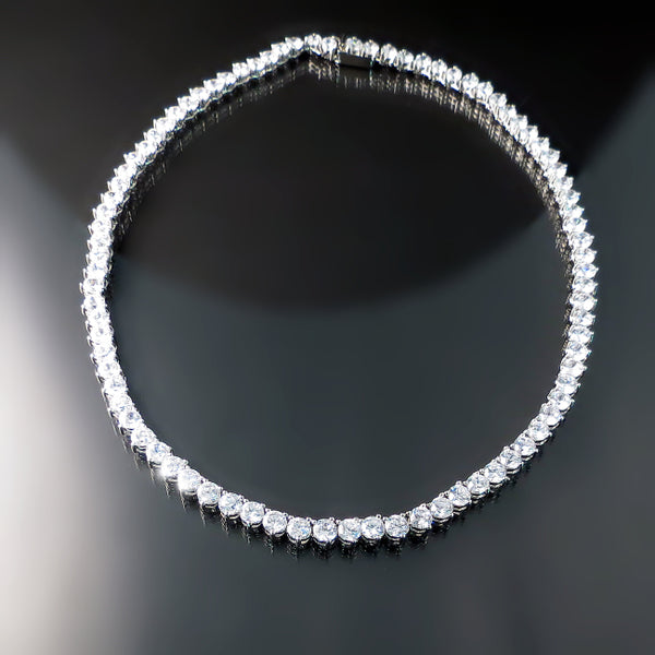 Imitation diamond tennis necklace - Cubic Zirconia Bridal Jewelry