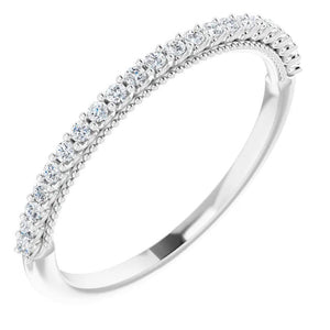 Lab Diamond Wedding Band
