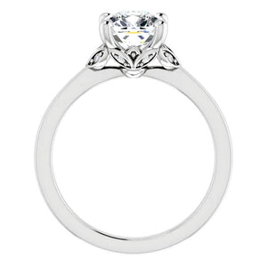 Moissanite Engagement Ring Cushion Cut