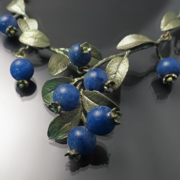 Blueberry Necklace Silver Seasons