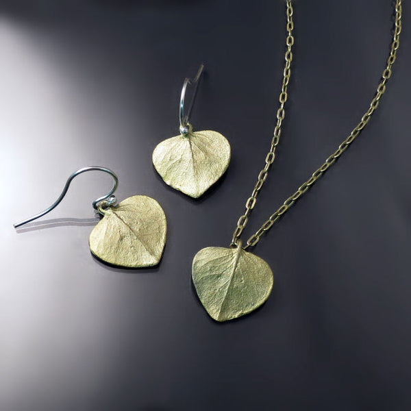 Botanical Jewelry Leaves Necklace Earrings
