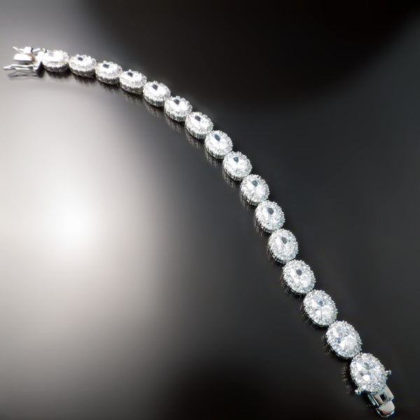 Imitation Diamond Cubic Zirconia CZ Bracelet - CZ Jewelry