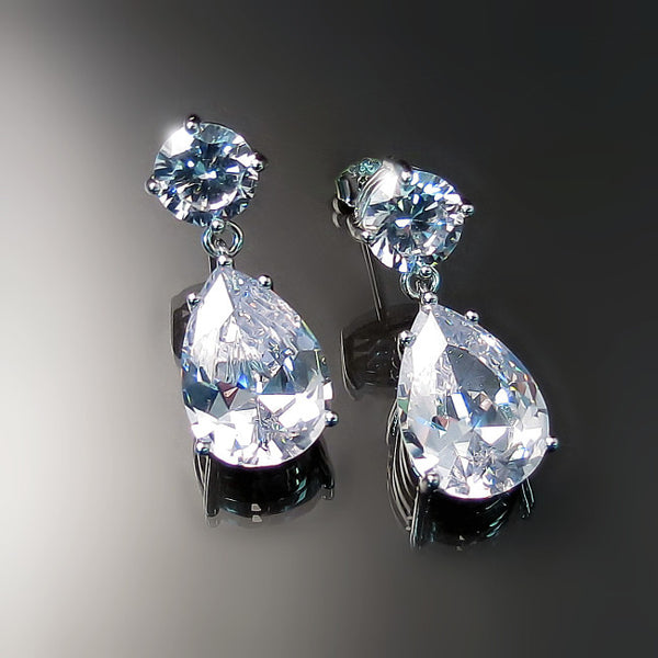 bridal jewelry cz earrings