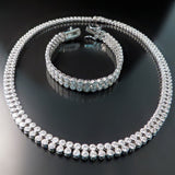 Modern CZ Jewelry for Wedding or Evening Wear