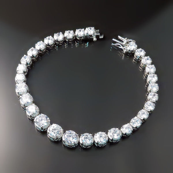 CZ Bridal Jewelry: Bridal bracelet with imitation diamonds