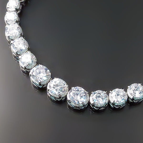 CZ Bridal Jewelry: Bridal bracelet with cubic zirconia