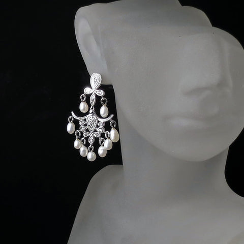 chandelier bridal earrings vintage style wedding jewelry