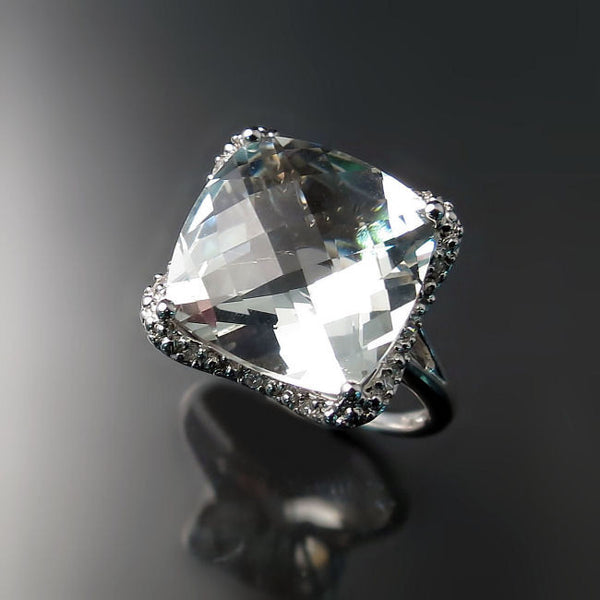 Green Amethyst Cocktail Ring