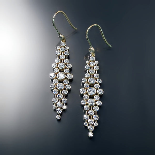 cz jewelry gold matrix earrings