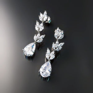 Bridal Jewelry: Bridal earrings with Cubic Zirconia CZ