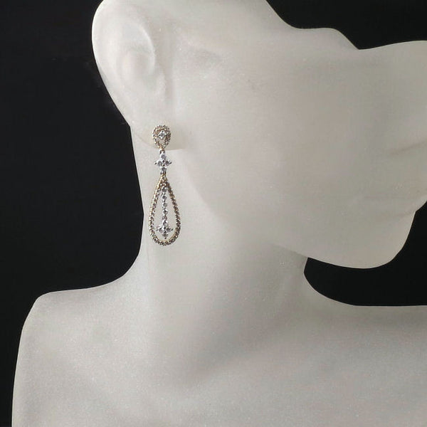 Diamond Jewelry Teardrop Gold Earrings