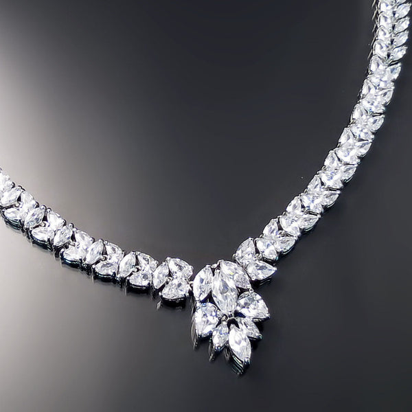 elegant bridal necklace hollywood glamour style