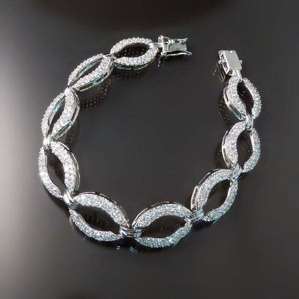 Bridal Jewelry: bracelet, cz, cubic zirconia, imitation diamonds