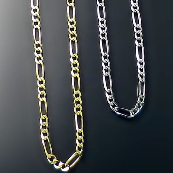 Figaro style gold chains