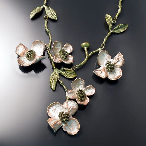 Flower Necklace Botanical Jewelry