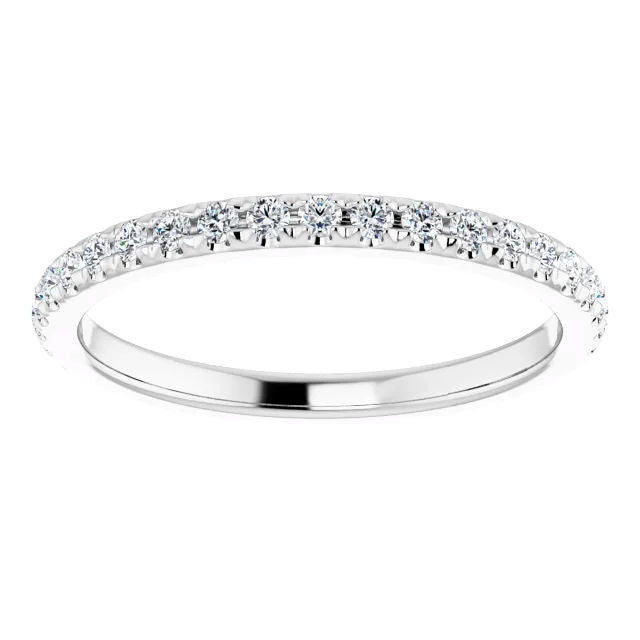 French Pave Diamond Band