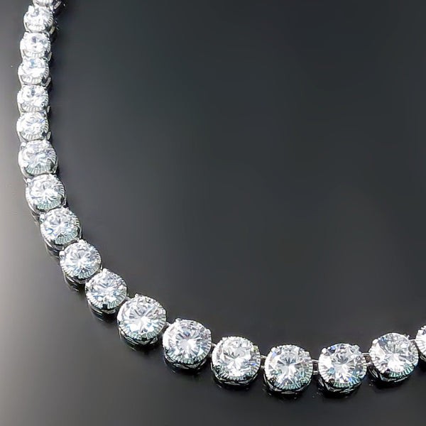 Bridal Jewelry: Cubic zirconia bridal necklace Hollywood Glamour style