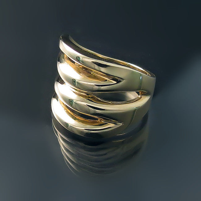 Chunky Gold Rings - Modern Wide Ring