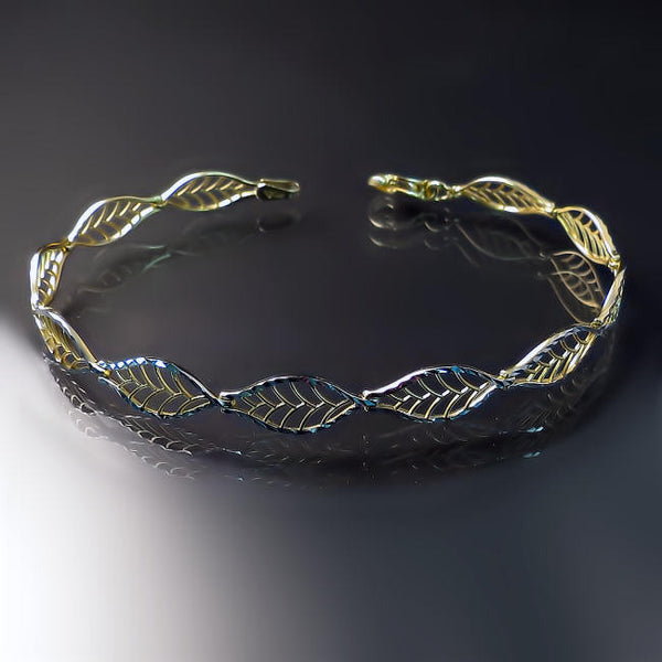 gold jewelry leaf bracelet