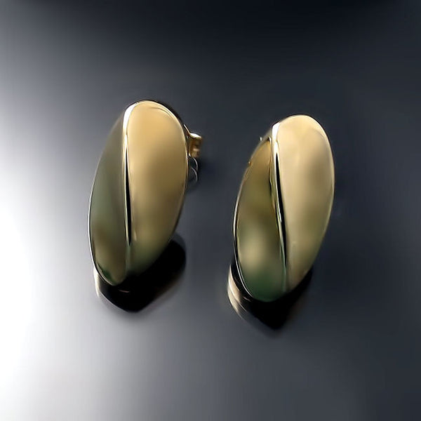 gold jewelry modern sculptural earrings