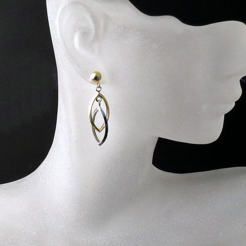 gold jewelry shop earrings