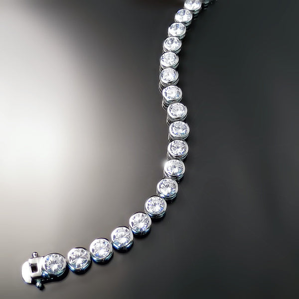 CZ tennis bracelet Cubic Zirconia jewelry in sterling silver